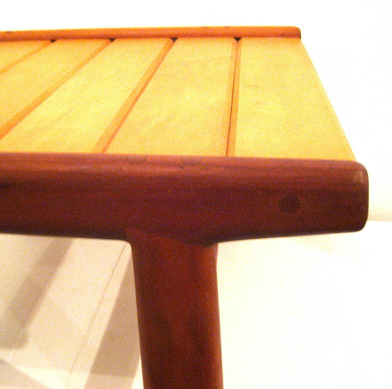 Danish Modern Noguchi Style Low Japanese Bench Or Stool At