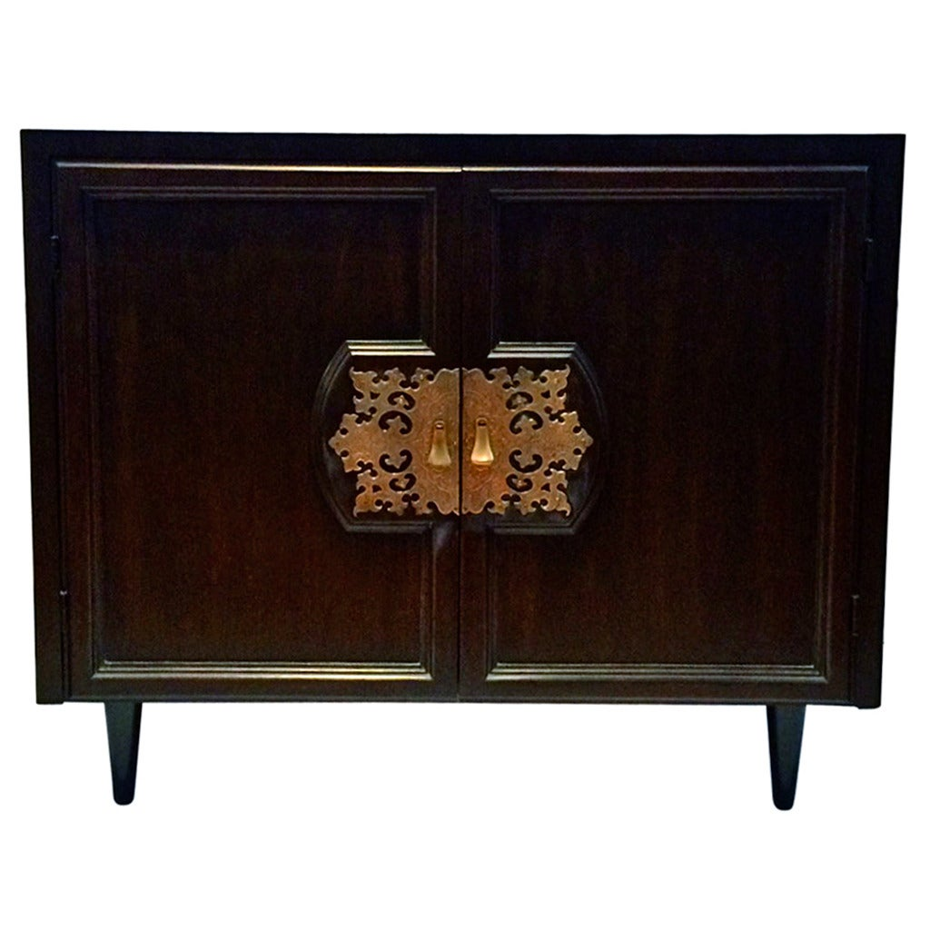 Asian Modern Small Cabinet Designed By Bert England For Johnson Furniture At 1stdibs