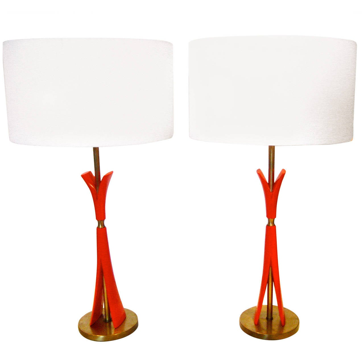 1940s Pair Of Art Deco Table Lamps By Colonial Lighting At