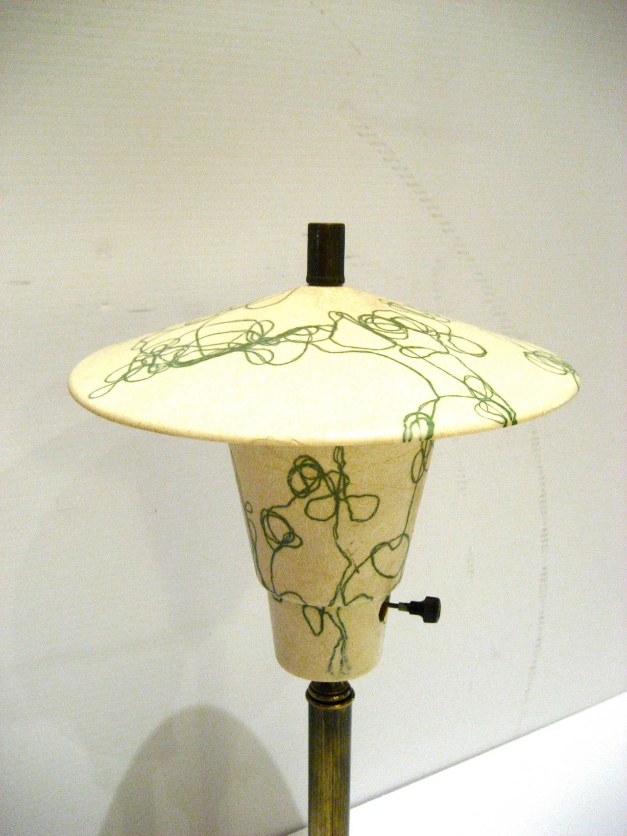 E Age 1950s American Fibergl Lamp Shade Desk California Design For