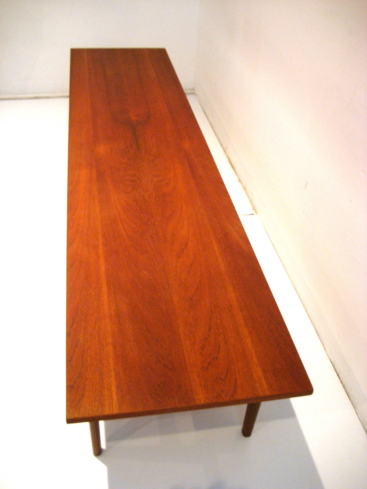 Danish Modern Long Coffee Table or Bench in Teak at 1stdibs
