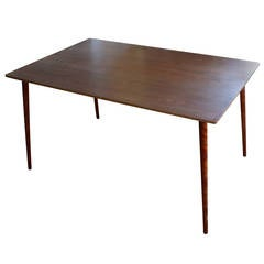 Charles Eames Herman Miller DTW-3 Walnut Plywood Dining Table