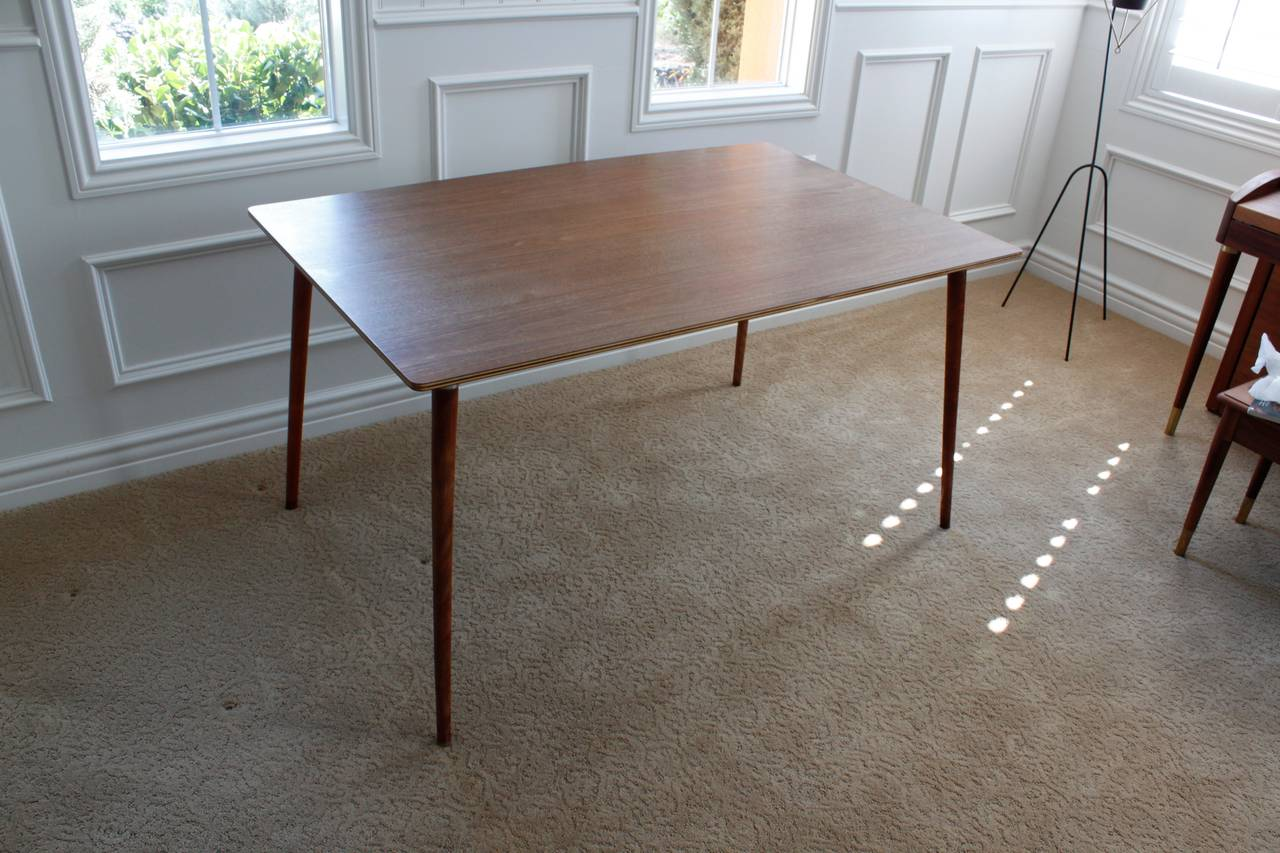 Charles Eames Herman Miller DTW 3 Walnut Plywood Dining Table For