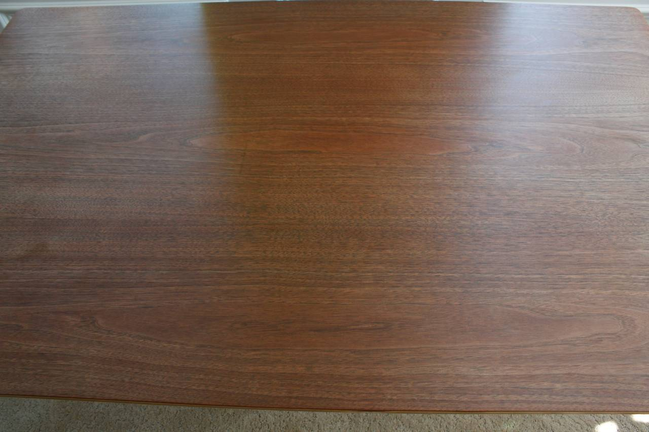 Wood Charles Eames Herman Miller DTW-3 Walnut Plywood Dining Table For Sale