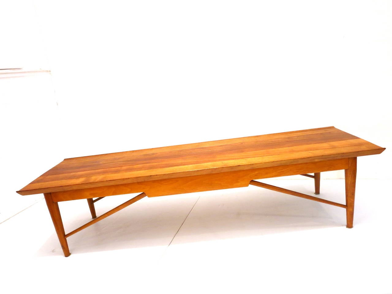 American Modern Solid Walnut Coffee Table By Heritage At 1stdibs