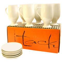 Set of Six Espresso Cups and Saucers Designed by Lagardo Tackett for Schmid