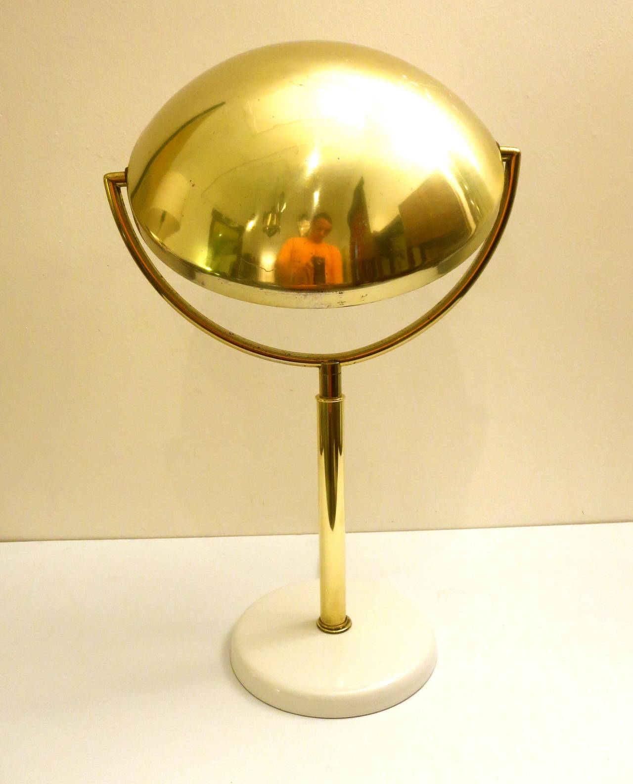 Mid-Century Modern Brass Desk or Table Lamp by Laurel ...
