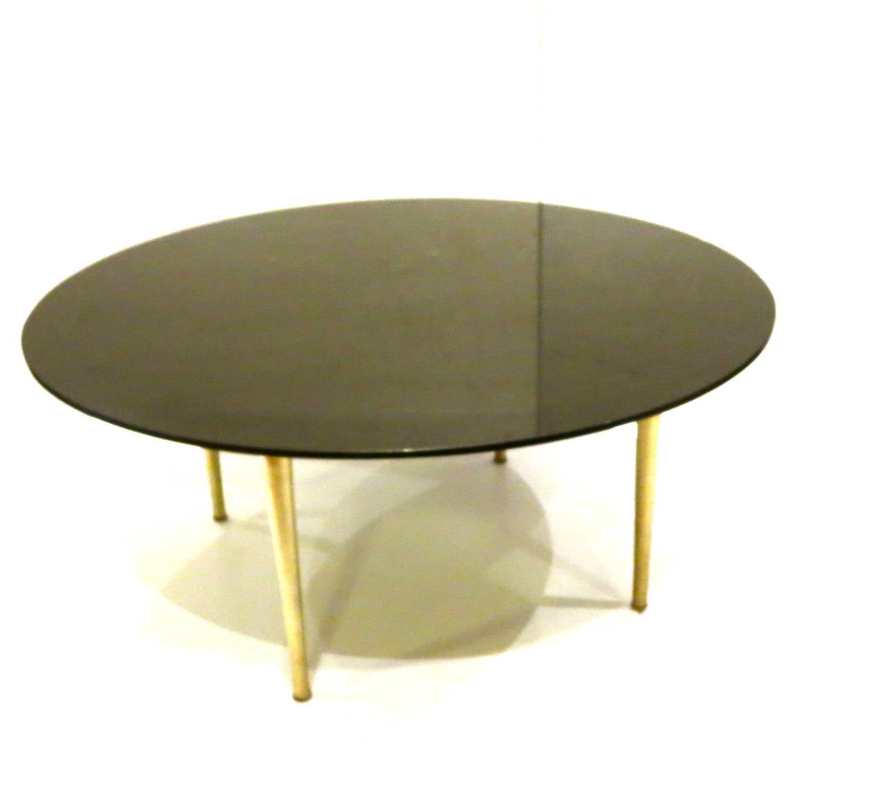 American Modern Polished Black Granite Coffee Table With Brushed Aluminum Legs At 1stdibs