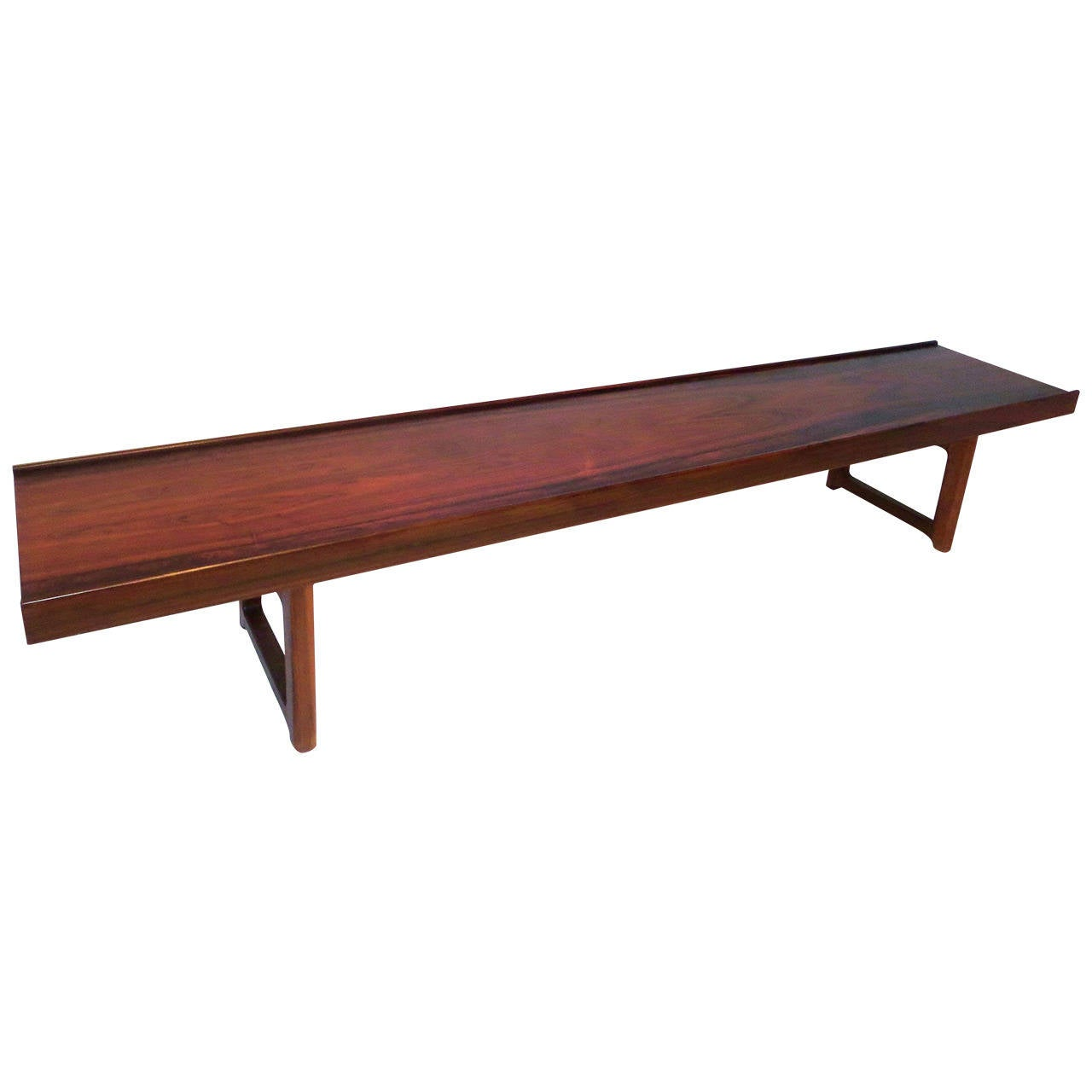 Long Low Profile Bench Or Coffee Table In Rosewood Torbj Rn Afdal For Bruksbo At 1stdibs