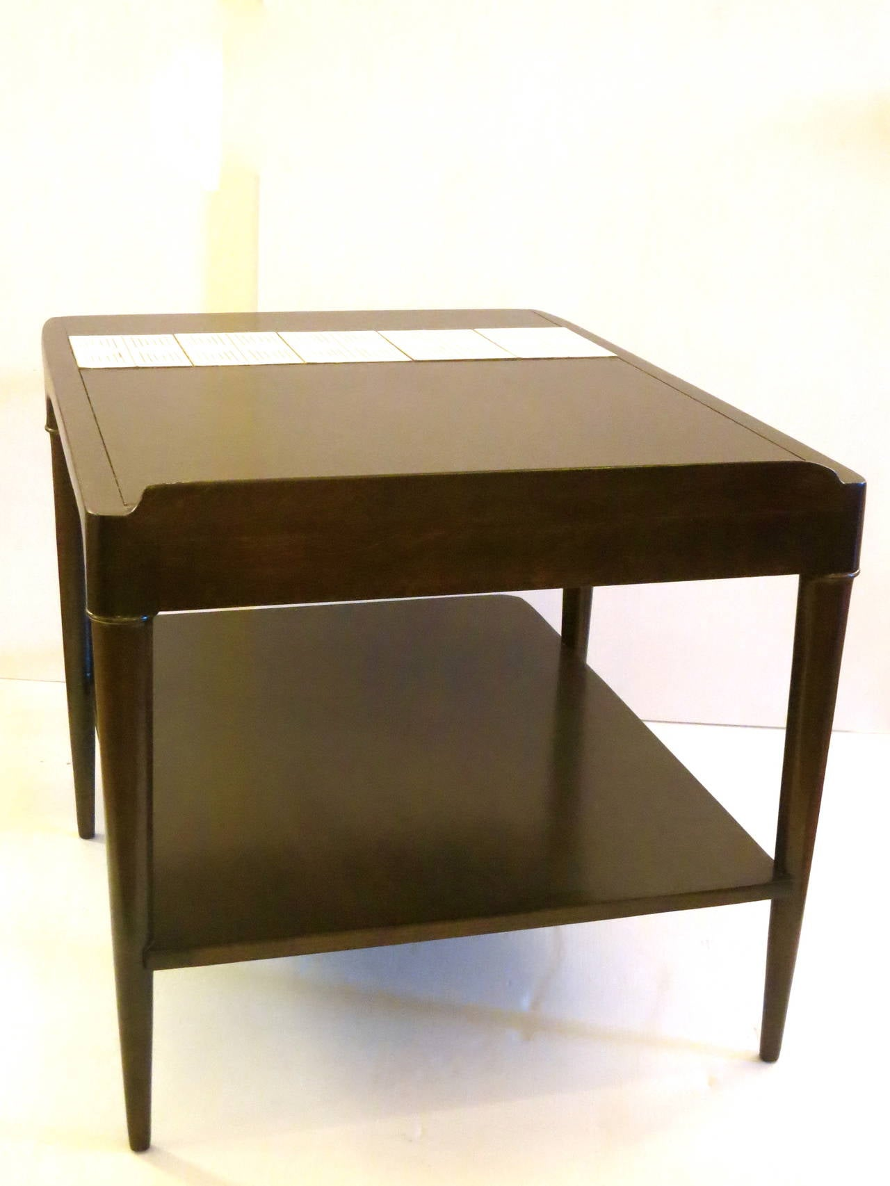 Mid Century Wedge Edge Cocktail Table With Inlaid Tile For Sale At 1stdibs