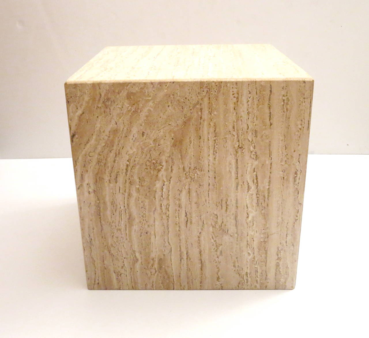 Square Cube Marble Base With Beveled Edge Corners Cocktail Or End Table 2