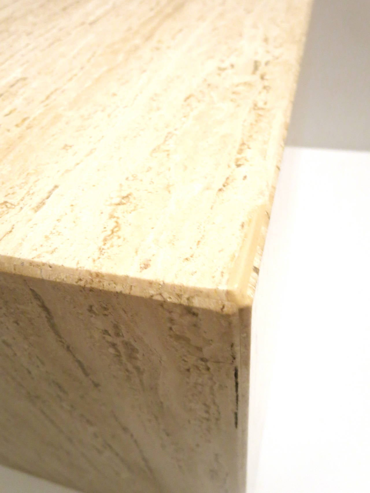Square Cube Marble Base With Beveled Edge Corners Cocktail