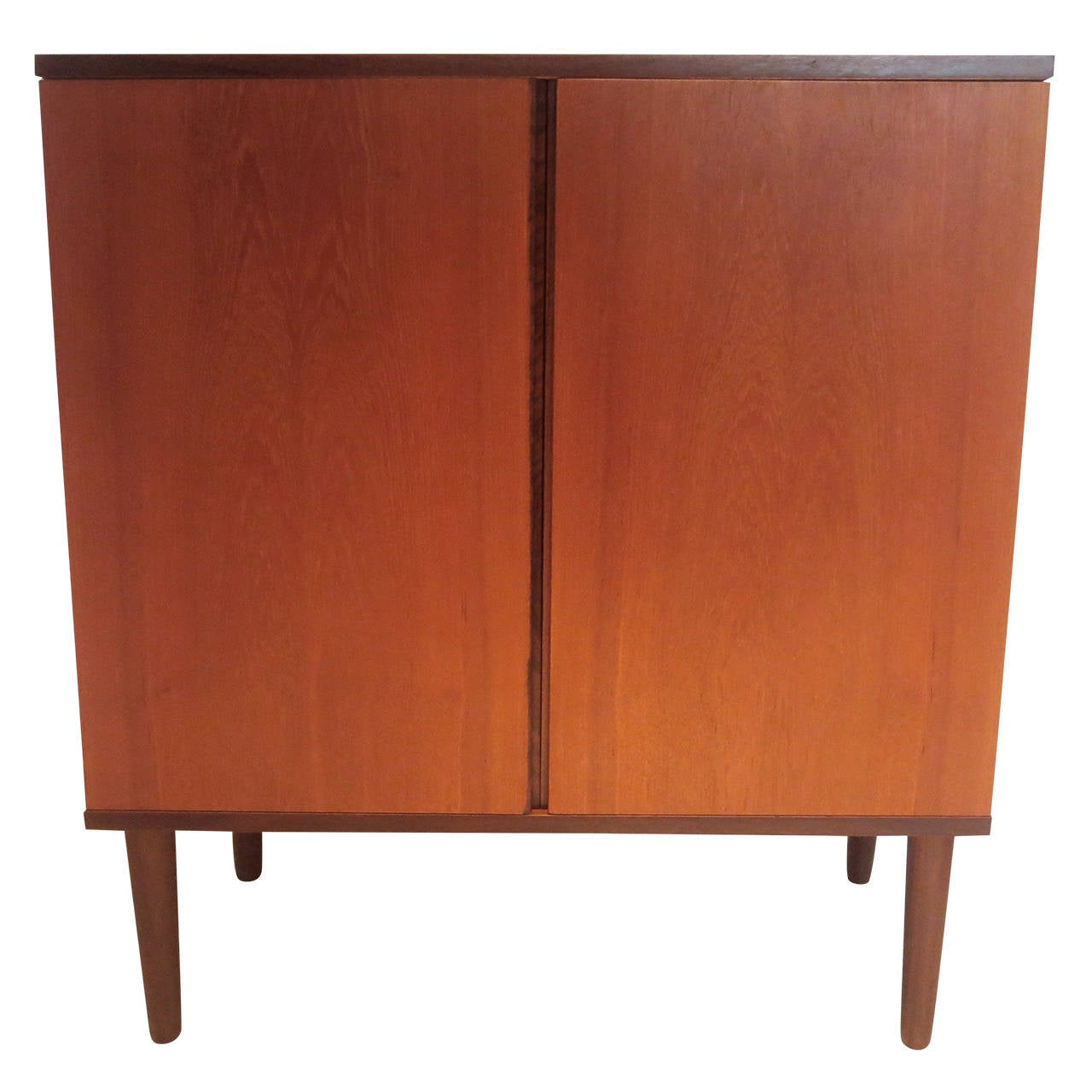 Danish Modern Bar Cabinet 1950S Danish Modern Double Door Teak Mini Bar Cabinethans .