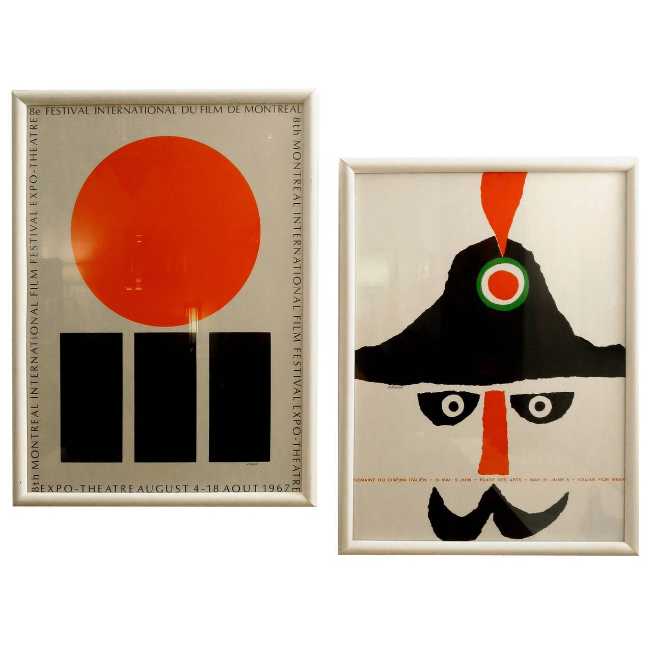 1960s Pair Of Original Vintage Posters By Famous Artist