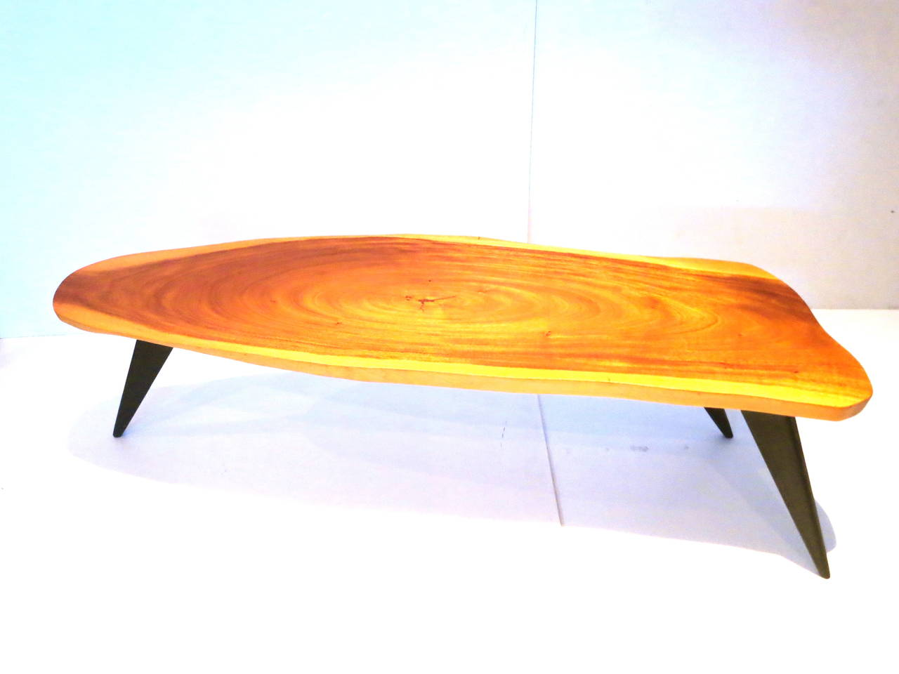 Tropical coffee table one of a kind long coffee table from the 50s made of 1 solid koa geotapseo Image collections
