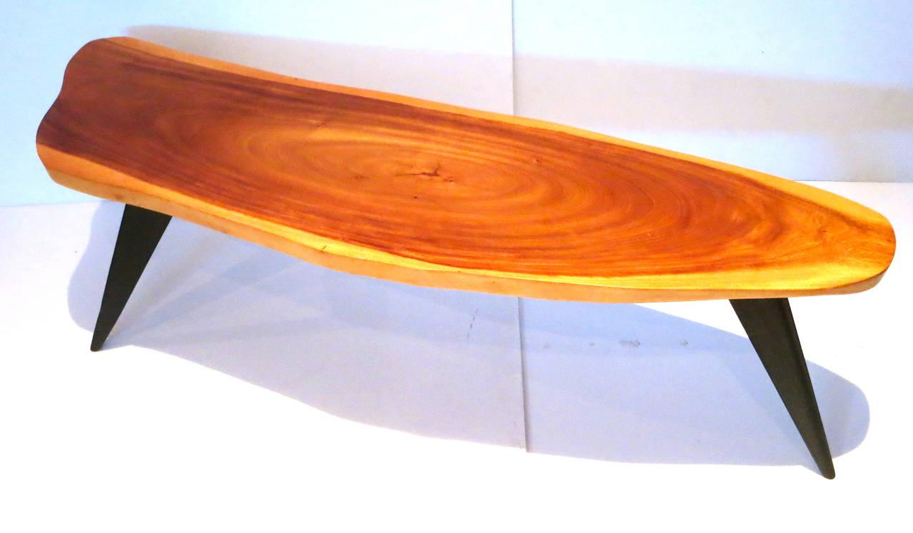 1950s American Modern Freeform Coffee Table Hawaiian Koa Wood At 1stdibs