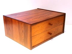 Pair of Danish Modern Rosewood Small Floating Night Stands