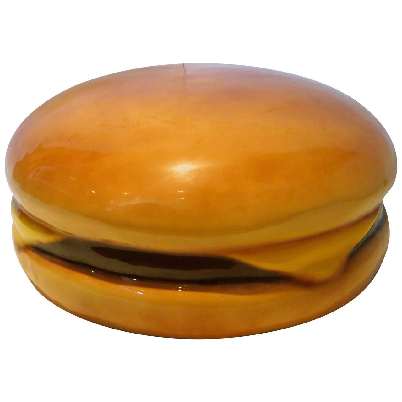 Giant Cheeseburger Molded Foam Fake Food Prop Display Pop