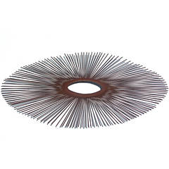 1970s Sunburst Wall Relief Metal Sculpture by Curtis Jere