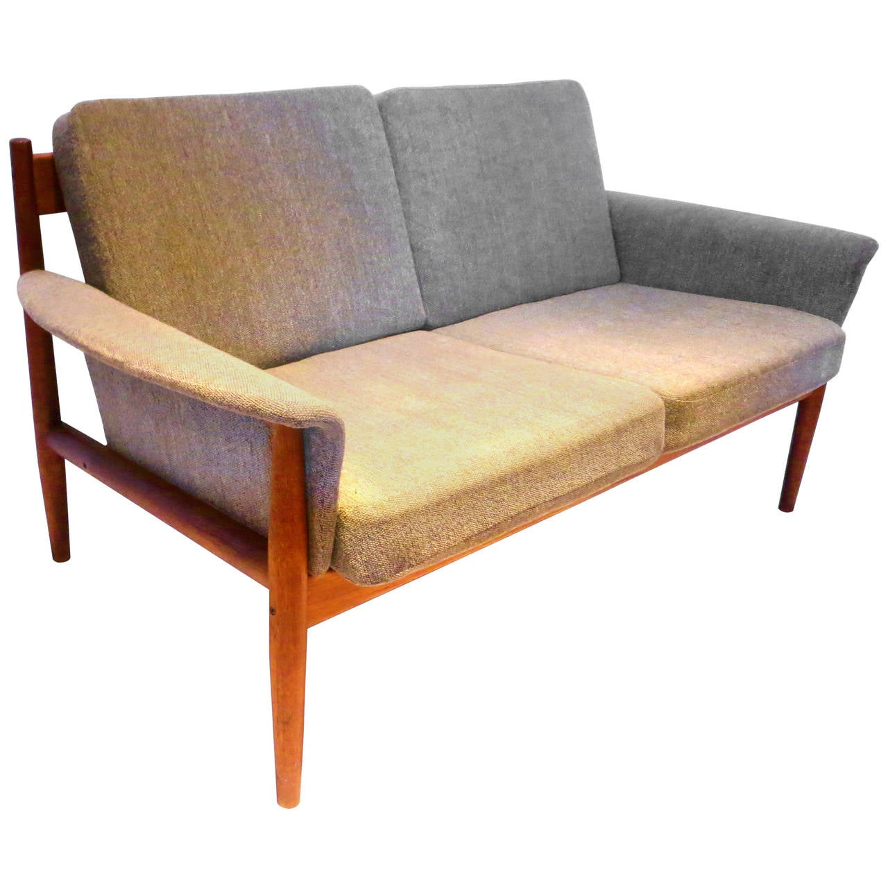 Danish Modern Teak Loveseat Designed By Grete Jalk For France And Daverkosen At 1stdibs