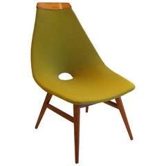 1950s Atomic design Danish Modern armless rare low lounge chair
