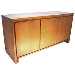1950s Solid Maple Sideboard or Credenza Design by Russel Wright for Conant Ball