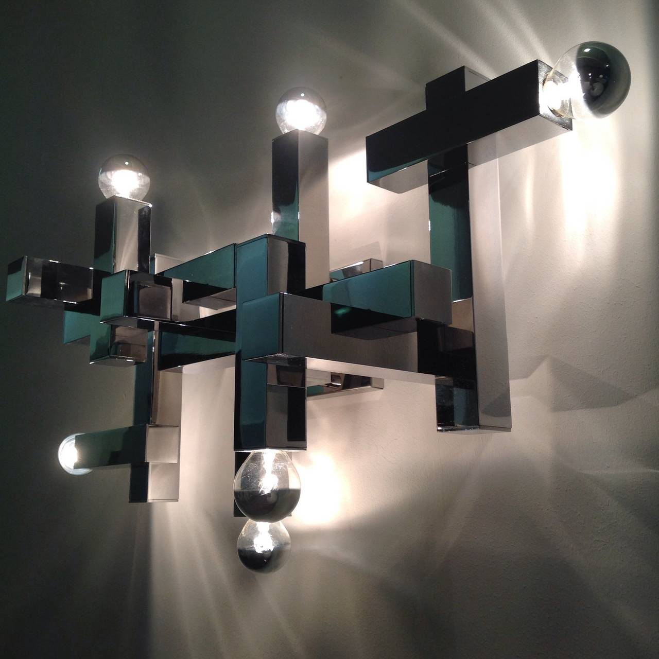 Exceptionally Beautiful Wall Lamp by Geatano Sciolari, in Top Condition For Sale at 1stdibs