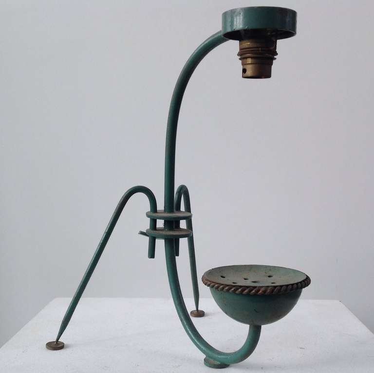 Strange table lamp in original condition with exquisite for Strange table