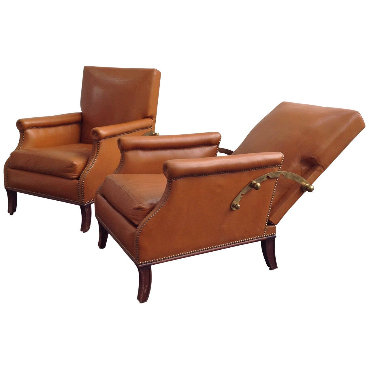 Leather sofa by poltrona frau at 1stdibs - High Quality Lounge Chairs By Poltrona Frau In Original Leather Anno 1960 1
