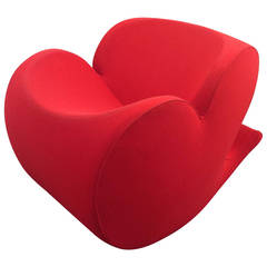 Lovely Soft Heart Rocking Chair by Ron Arad, Moroso in Original Condition