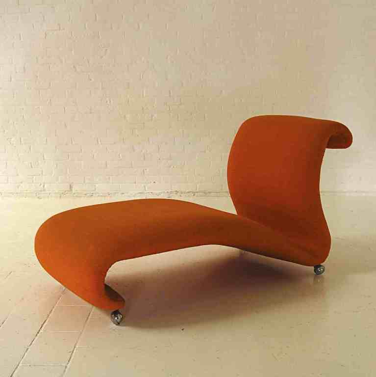 chaise longue designed by verner panton for storz palmer image 3. Black Bedroom Furniture Sets. Home Design Ideas