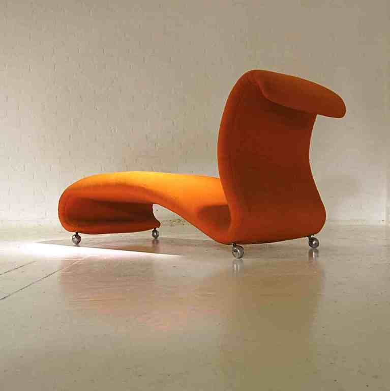 chaise longue designed by verner panton for storz and. Black Bedroom Furniture Sets. Home Design Ideas