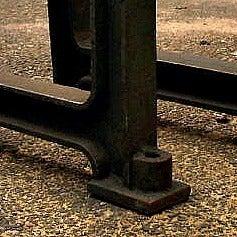 "2 beautiful industrial ""CAST-IRON"" legs, anno 1890. image 2"