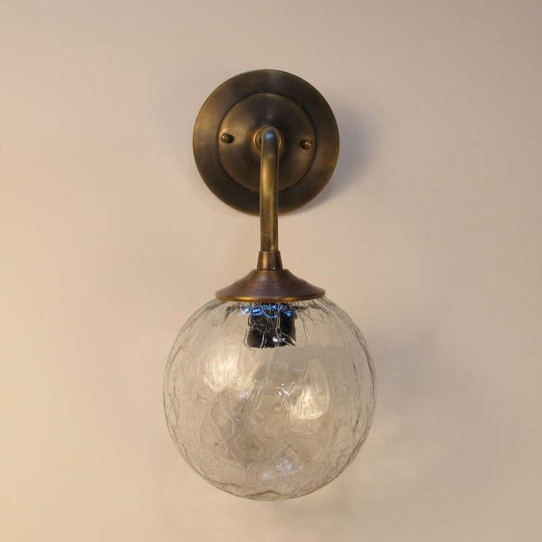 Vintage Glass Wall Sconces : Vintage Glass Sconce For Sale at 1stdibs