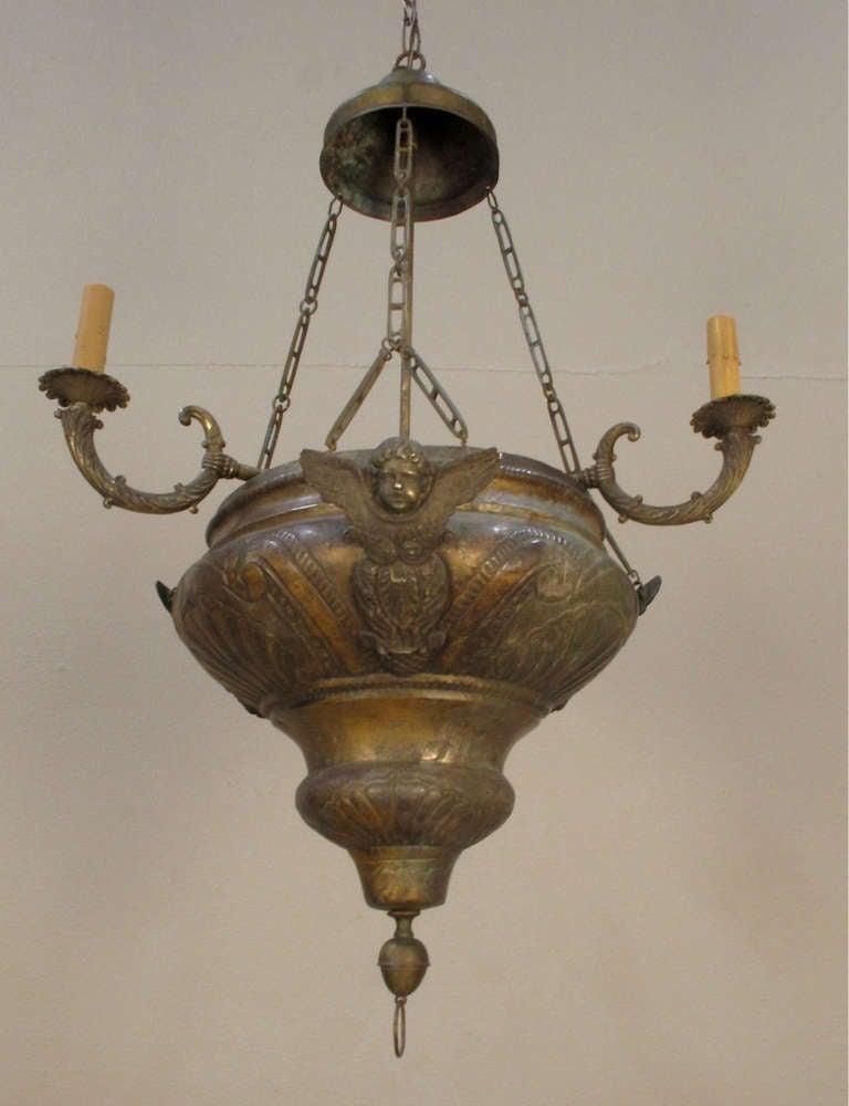 Ecclesiastical Chandelier In Good Condition For Sale In Encinitas, CA