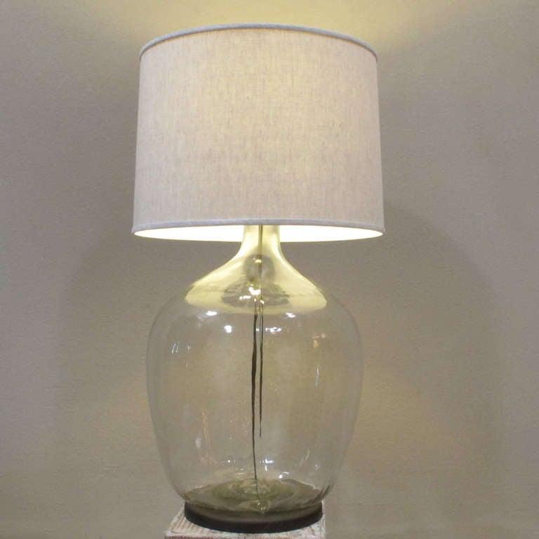 glass jug lamp for sale at 1stdibs. Black Bedroom Furniture Sets. Home Design Ideas