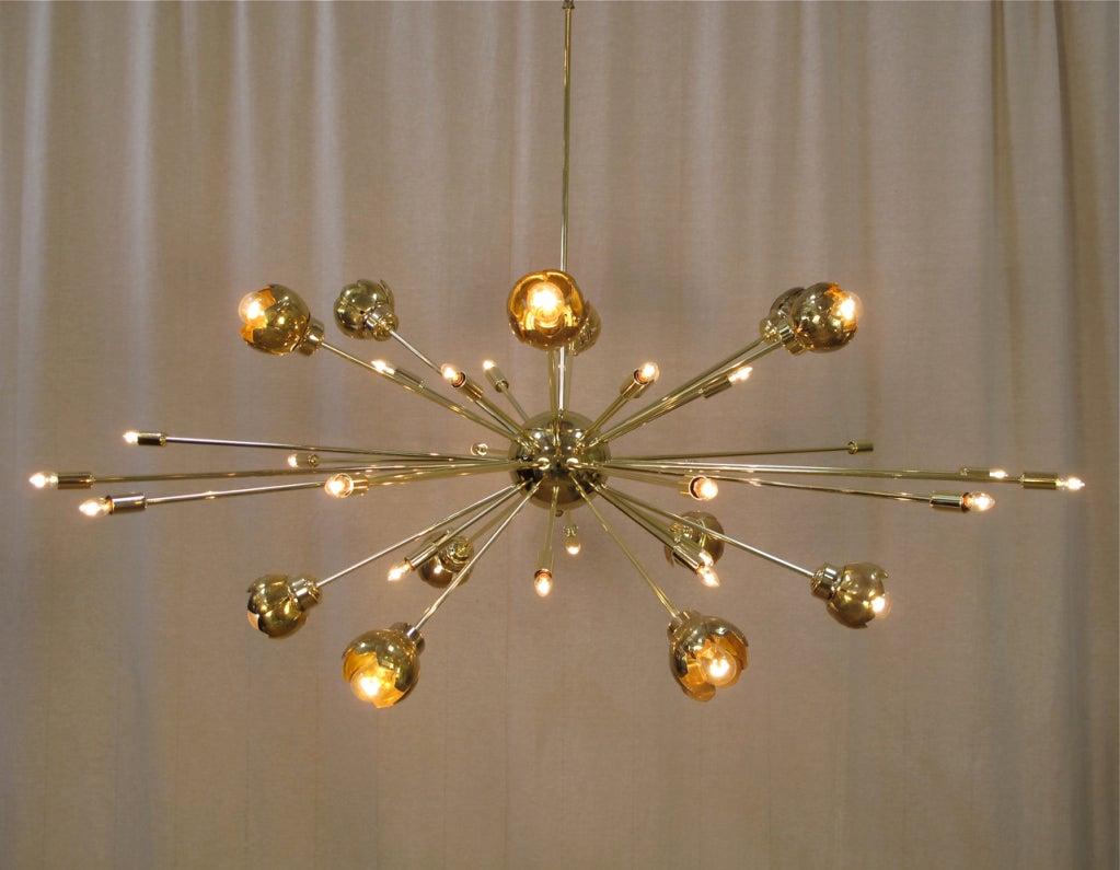 36 Light Brass Sputnik Chandelier with Vintage Floral Cups  : 937013506837122 from www.1stdibs.com size 1023 x 795 jpeg 89kB