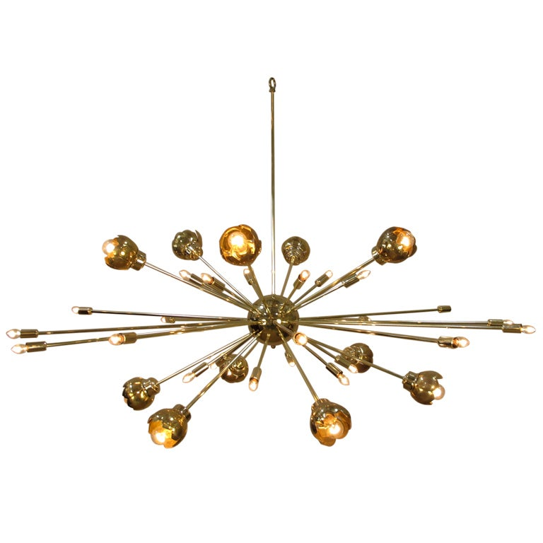 Brass Sputnik Chandelier: ,Lighting