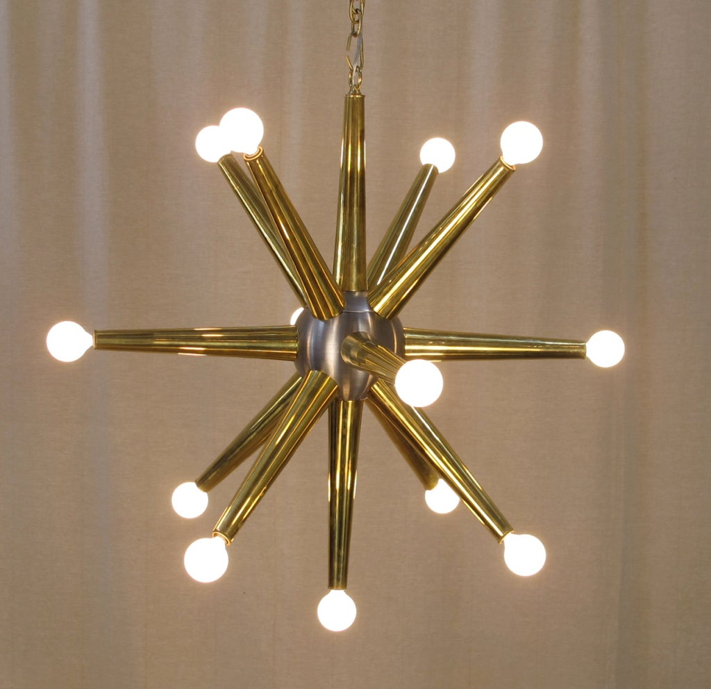 13 light sputnik chandelier created with vintage parts at for Sputnik chandelier