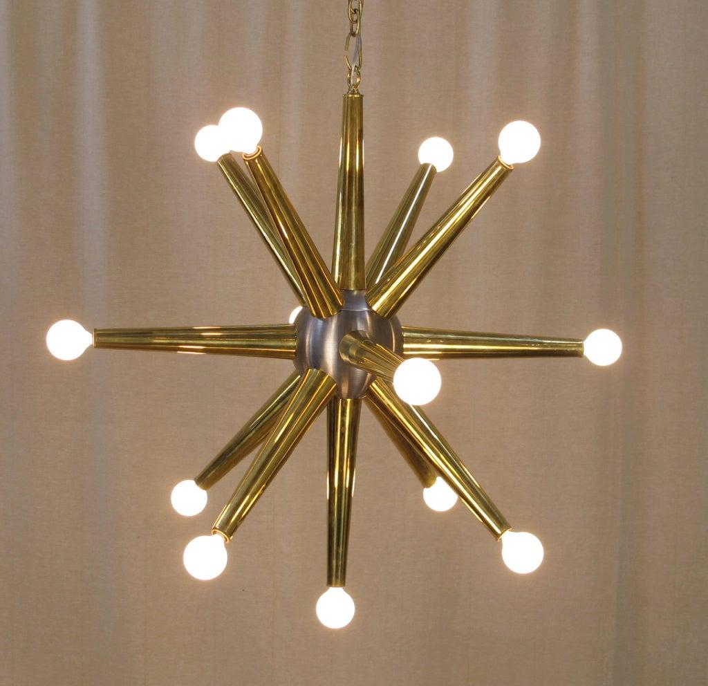 13 light sputnik chandelier created with vintage parts at 1stdibs - Lights and chandeliers ...