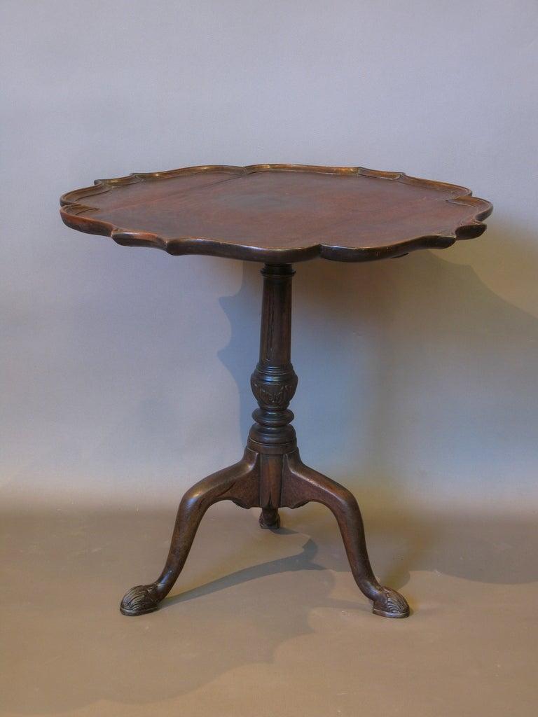 Pie Crust Tilt Top Tea Table At 1stdibs