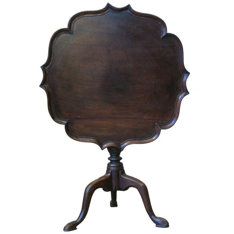 Pie Crust Tilt Top Tea Table For Sale
