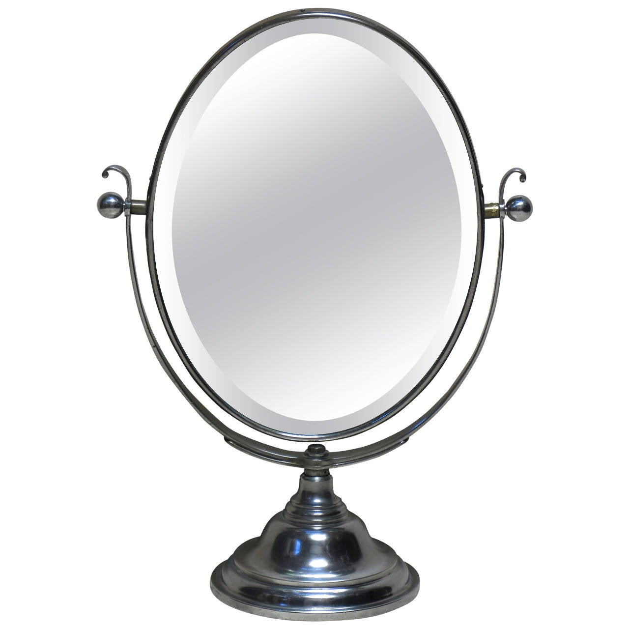 Large double sided vanity mirror france early 20th for Large vanity mirror