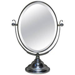 Large Double-Sided Vanity Mirror, France, Early 20th Century