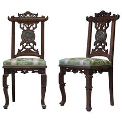 Exquisite Pair of Chairs Attributed to Gabriel Viardot, France, circa 1890