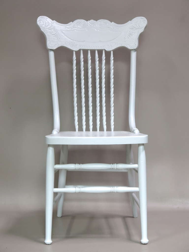 French Set of 6 Dining Chairs - France, Circa 1920s For Sale