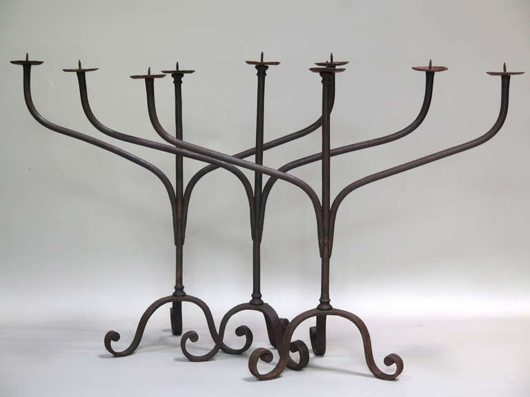 best service 069f3 c3c94 Wrought-Iron Candle Holder - France, 19th Century (3 Available)