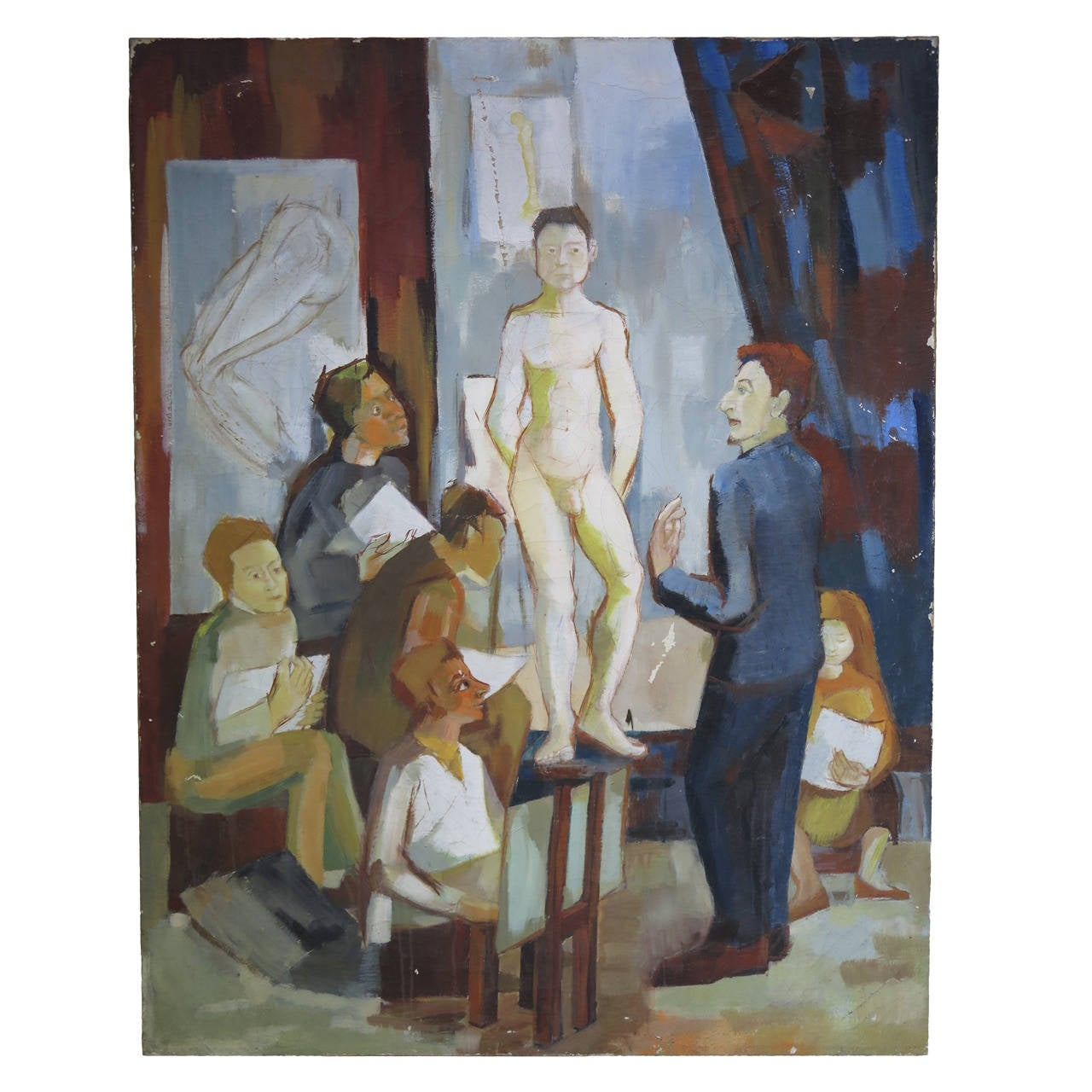 Painting of an Art Class, Europe 20th Century