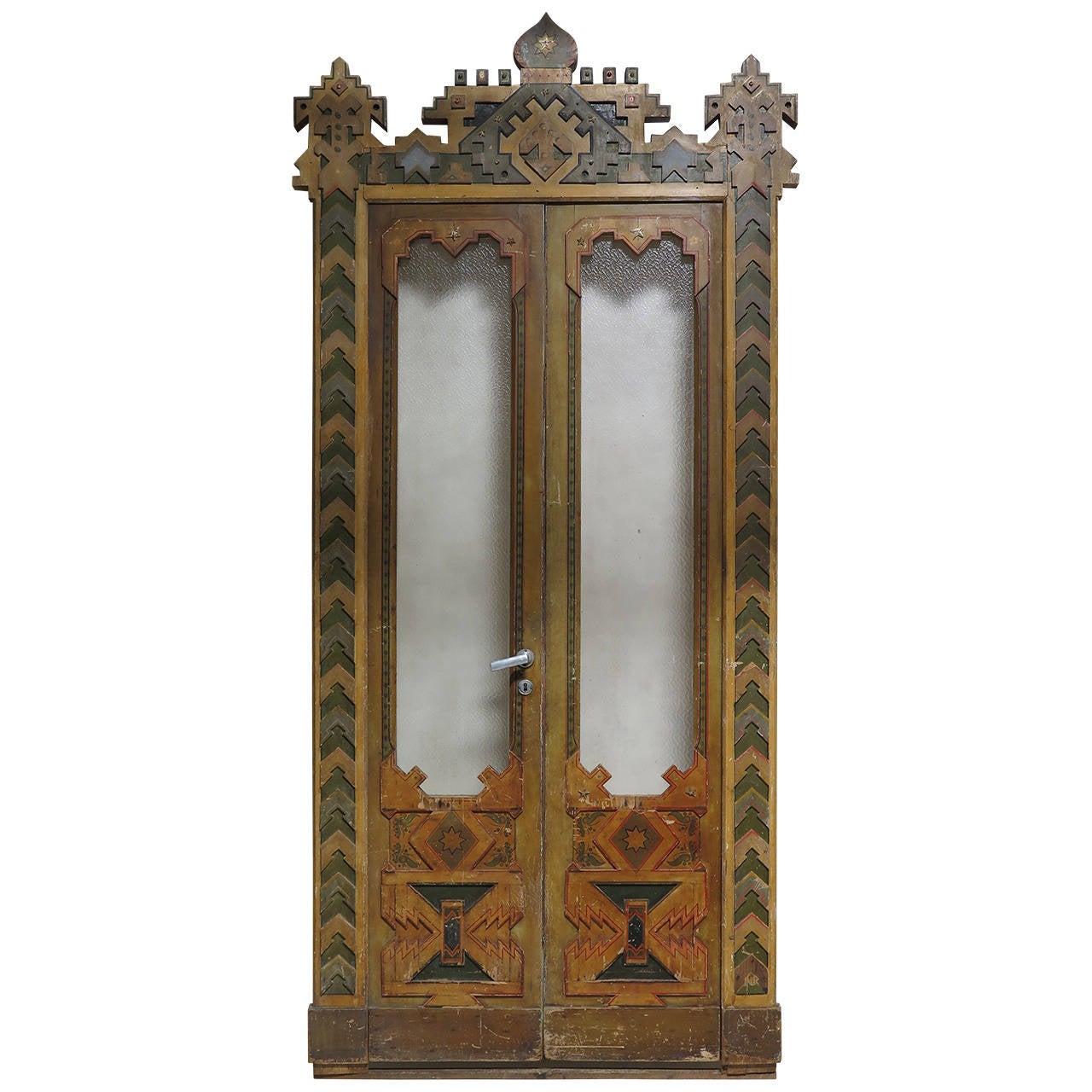 Extraordinary Moorish-Style Double-Door, 19th Century