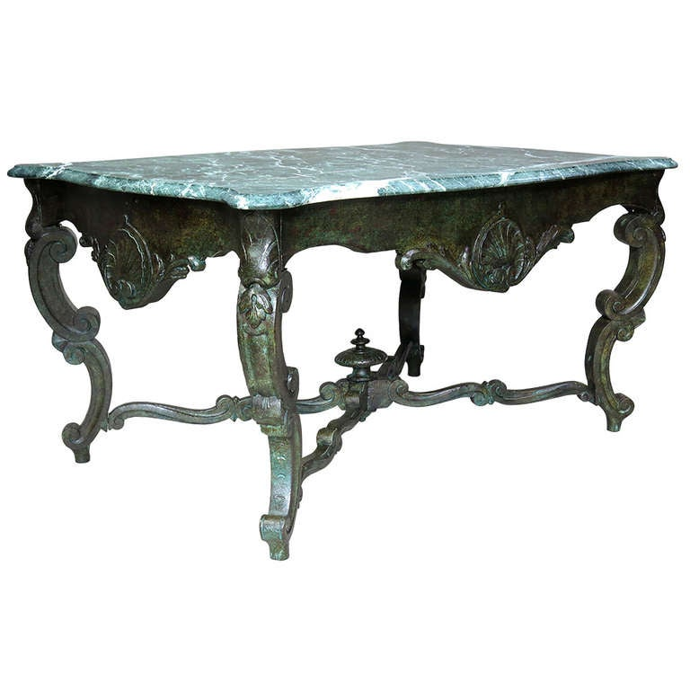 Louis XV Centre Table with Marble Top, France, 18th Century